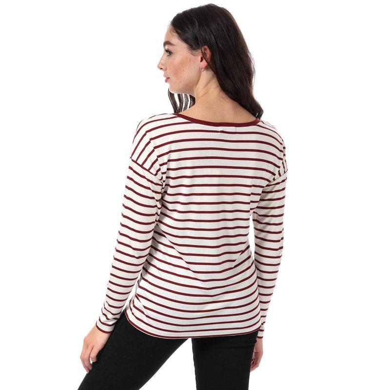 Henri Lloyd Womens Breanna Striped T-Shirt Cream red
