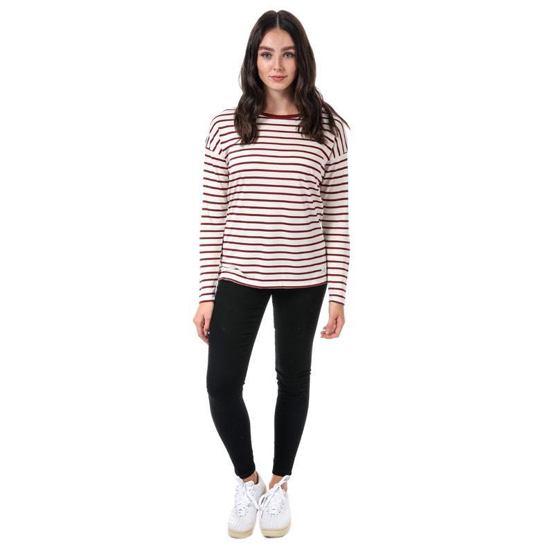 Henri Lloyd Womens Breanna Striped T-Shirt Light Grey