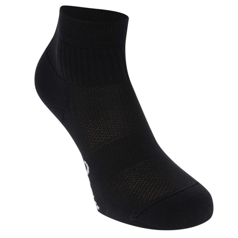Asics QTR Tech Density Running Socks Mens Black