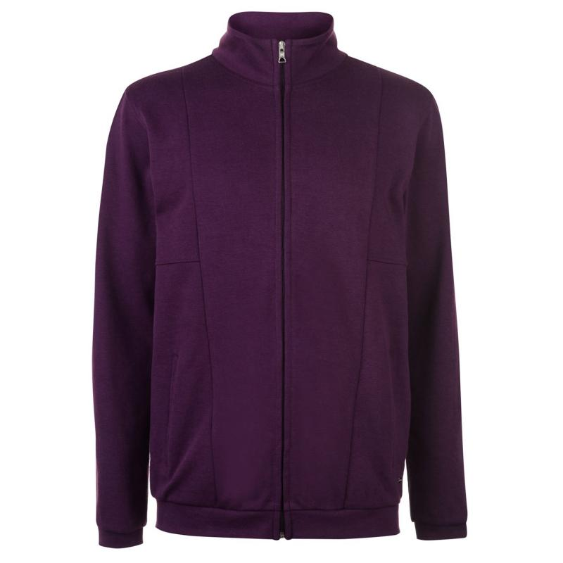 Mikina Pierre Cardin Zipped Fleece Top Mens Grape