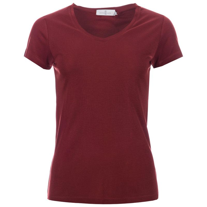 Henri Lloyd Womens Rosa V-Neck T-Shirt Red
