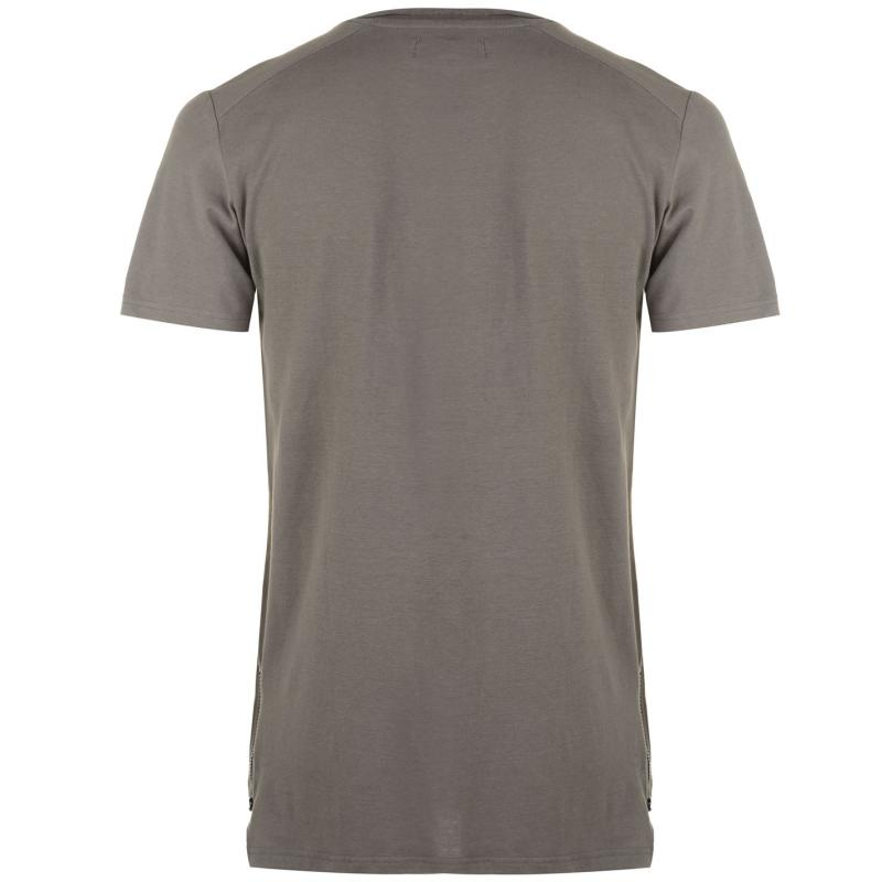 Tričko Dead Legacy Side Zip T Shirt Brown
