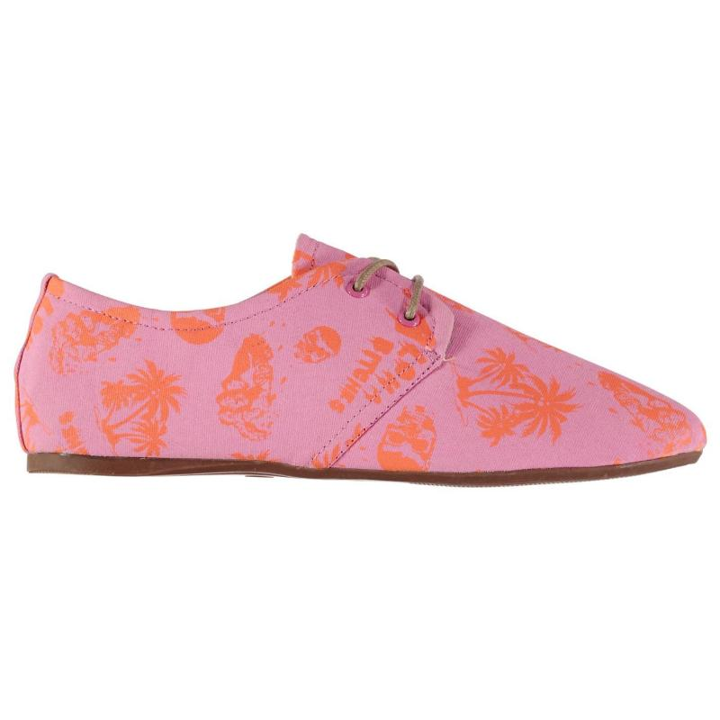 Iron Fist Ladies Flat Canvas Shoes Aloha Bit