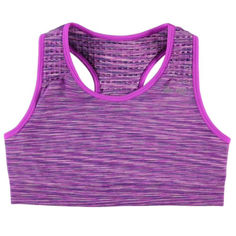 USA Pro Seamless Crop Top Junior Girls Purple Space
