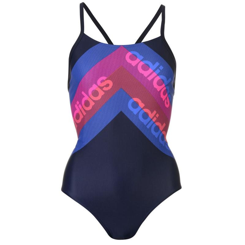 Plavky adidas Fit Lineage Swimsuit Ladies Legend Ink