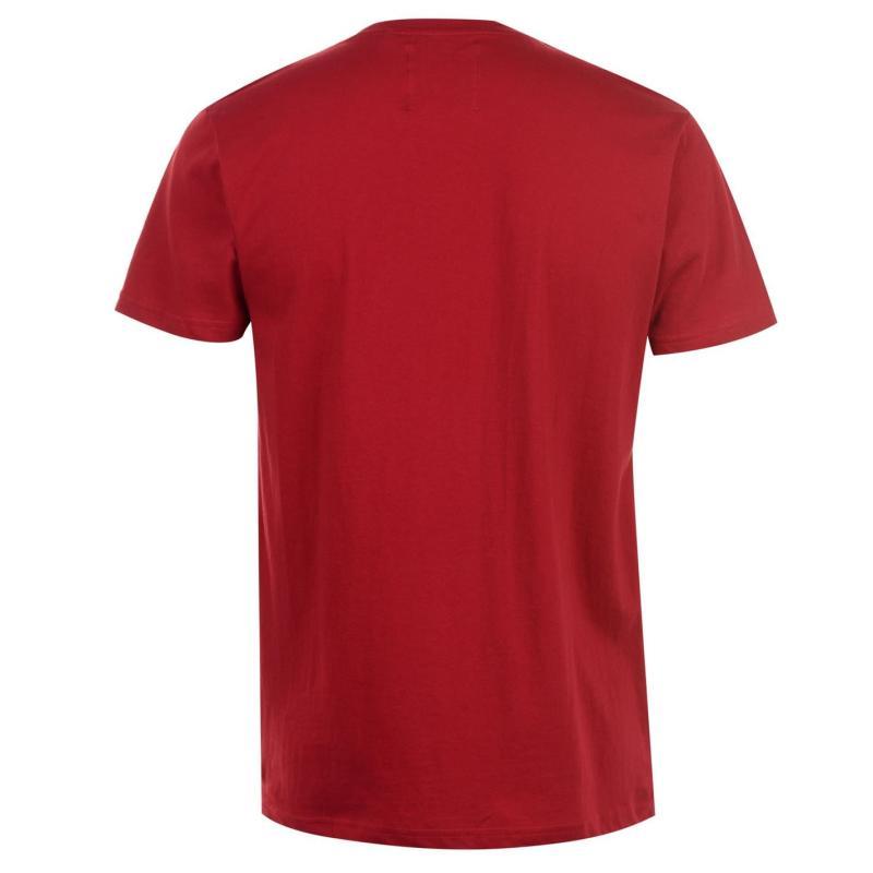 Tričko Fabric Slogan T Shirt Mens Red