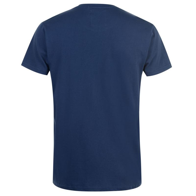 Tričko Fabric Slogan T Shirt Mens Dark Blue