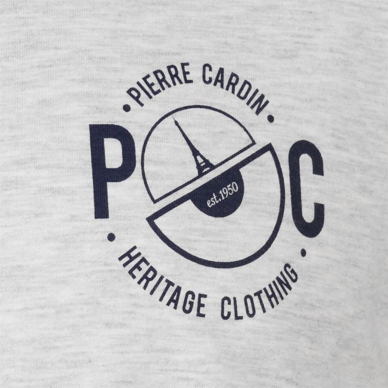 11d2c53ed94f Tričko Pierre Cardin Printed Ringer T Shirt Mens White