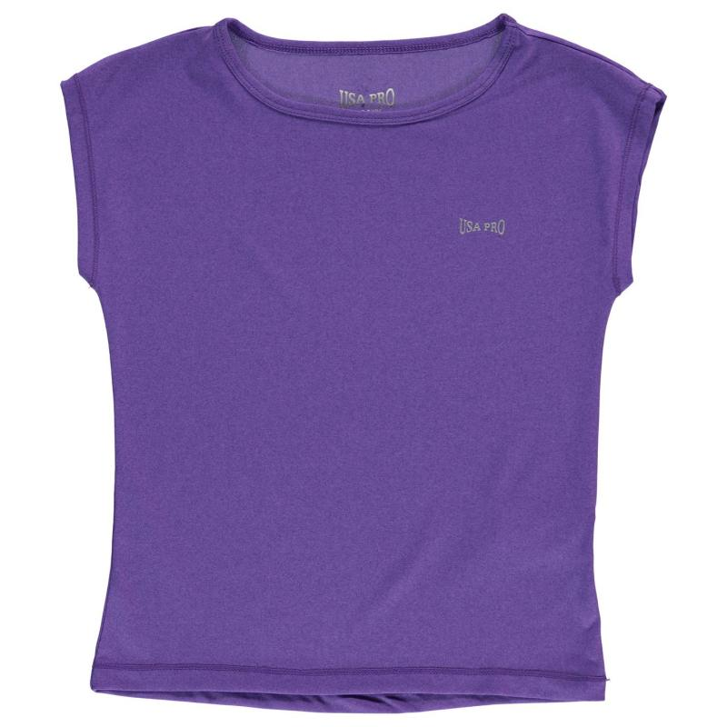 USA Pro Boyfriend Tee Junior Girls Purple