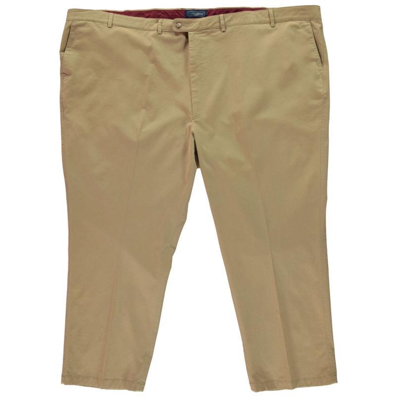 Kalhoty Jonathon Charles Dixon Chino Stretch Trousers Mens Black