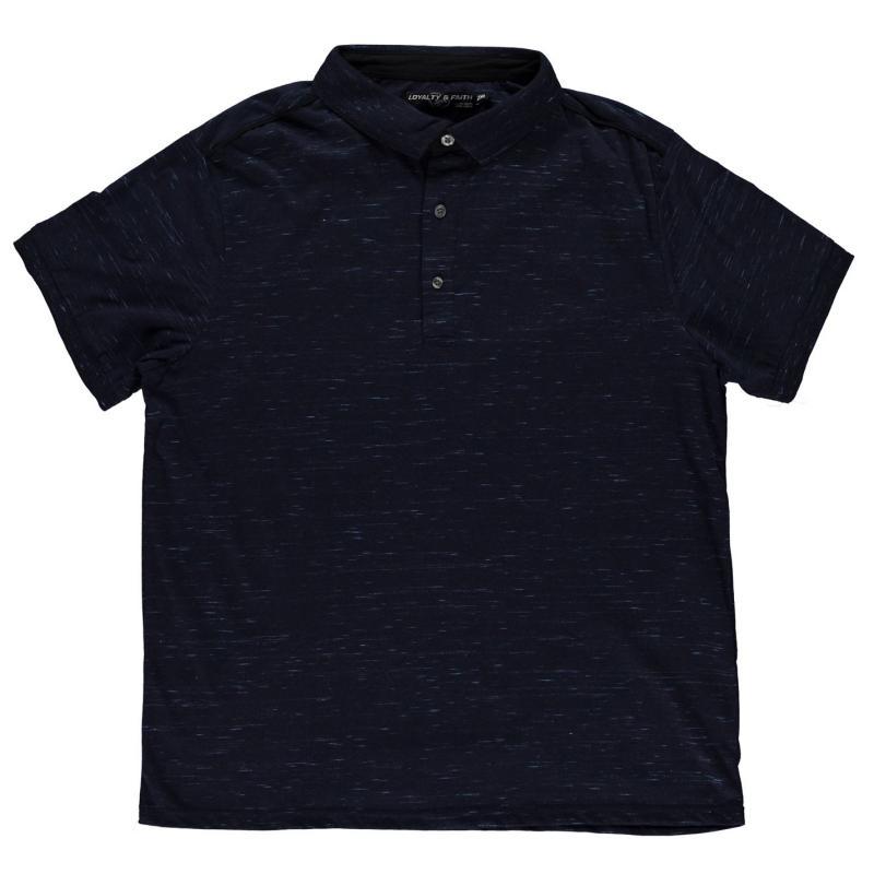 Loyalty and Faith and Faith Hinwick Polo Shirt Mens Black Marl