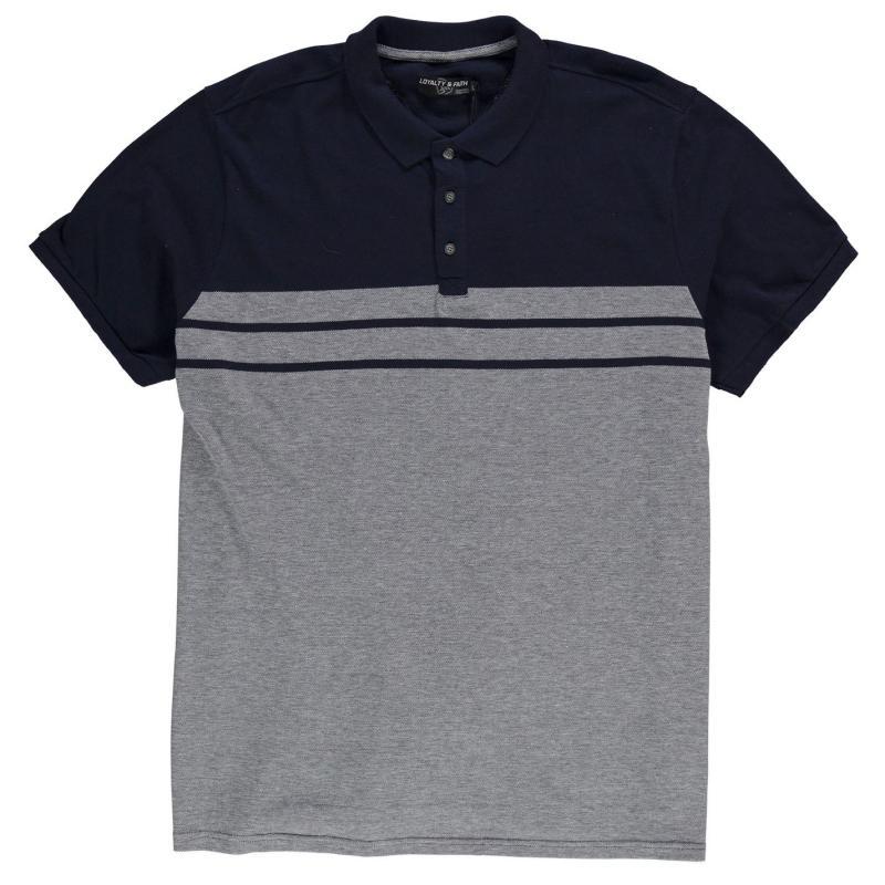 Loyalty and Faith Caines Polo Shirt Mens Charcoal Marl