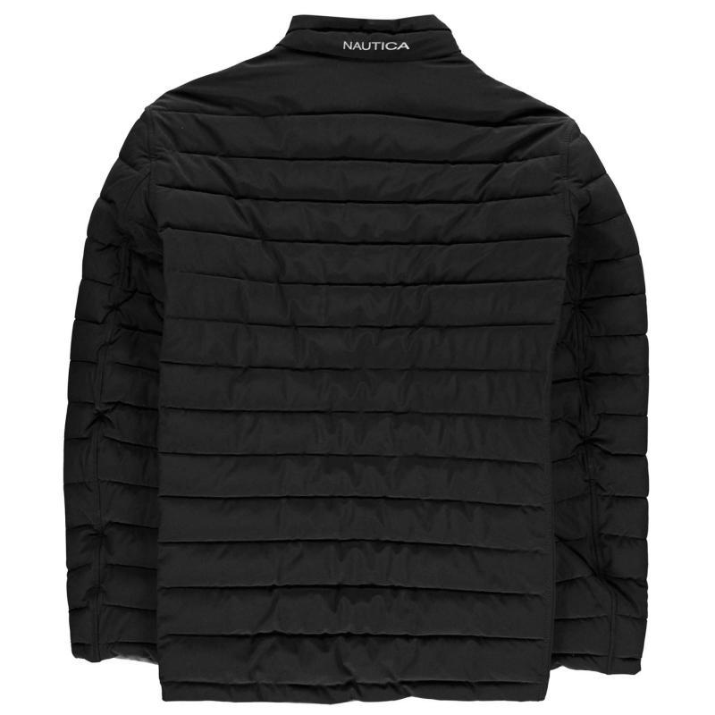 Nautica Reversible Padded Jacket Mens Black/Grey