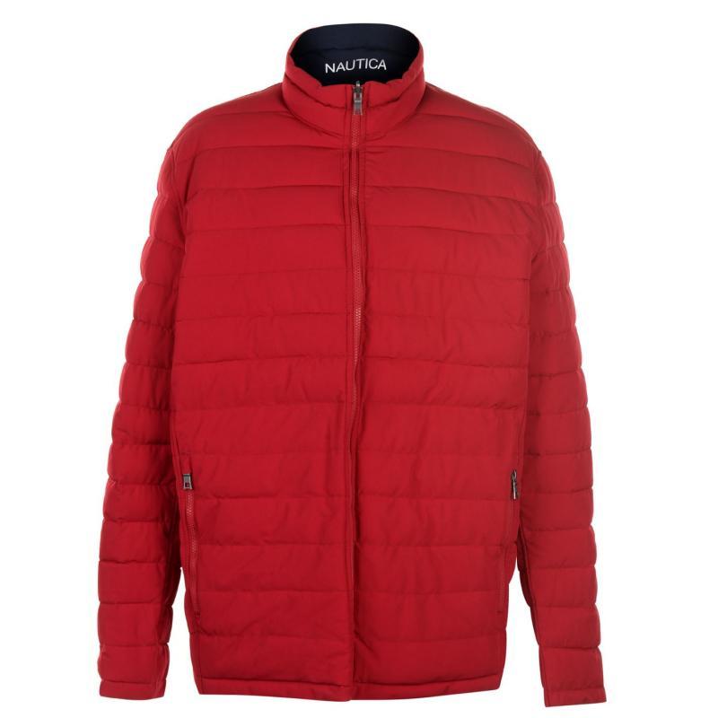 Nautica Reversible Padded Jacket Mens Red/Grey