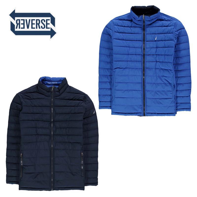 Nautica Reversible Padded Jacket Mens Navy/Blue