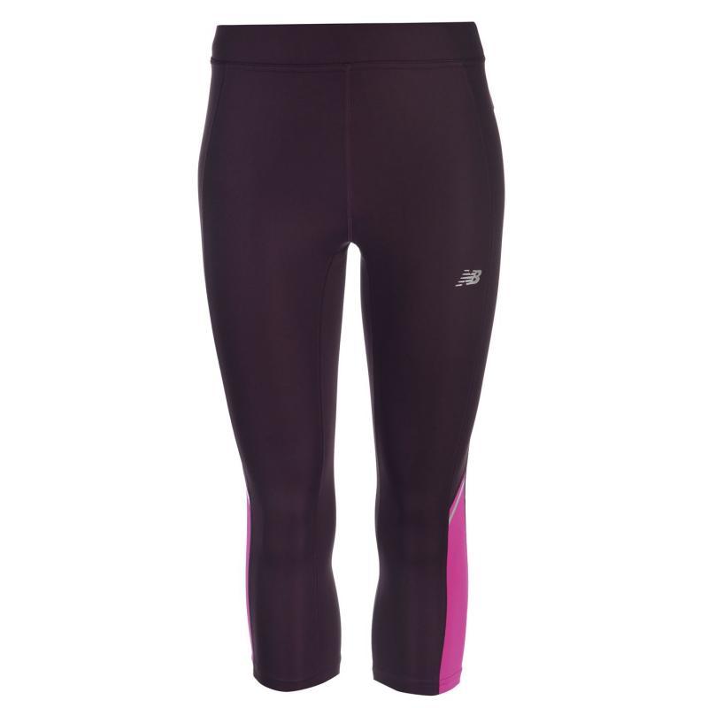 Legíny New Balance Accelerate Capri Leggings Ladies Black Rose
