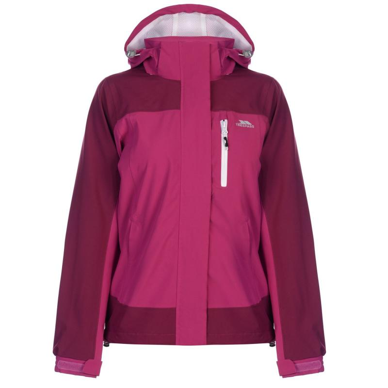 Trespass Elsha Waterproof Jacket Ladies Azalea