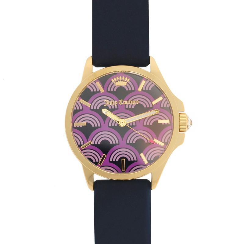 Juicy Couture Jetsetter Watch L84 Navy/Gold/Purp