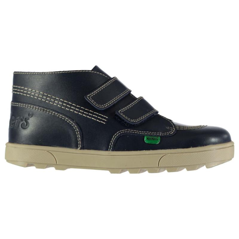 Kickers Strap Classic Boots Unisex Childrens Dark Blue