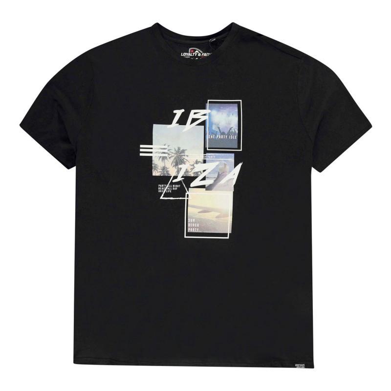 Tričko Loyalty and Faith Mambo T Shirt Mens Black