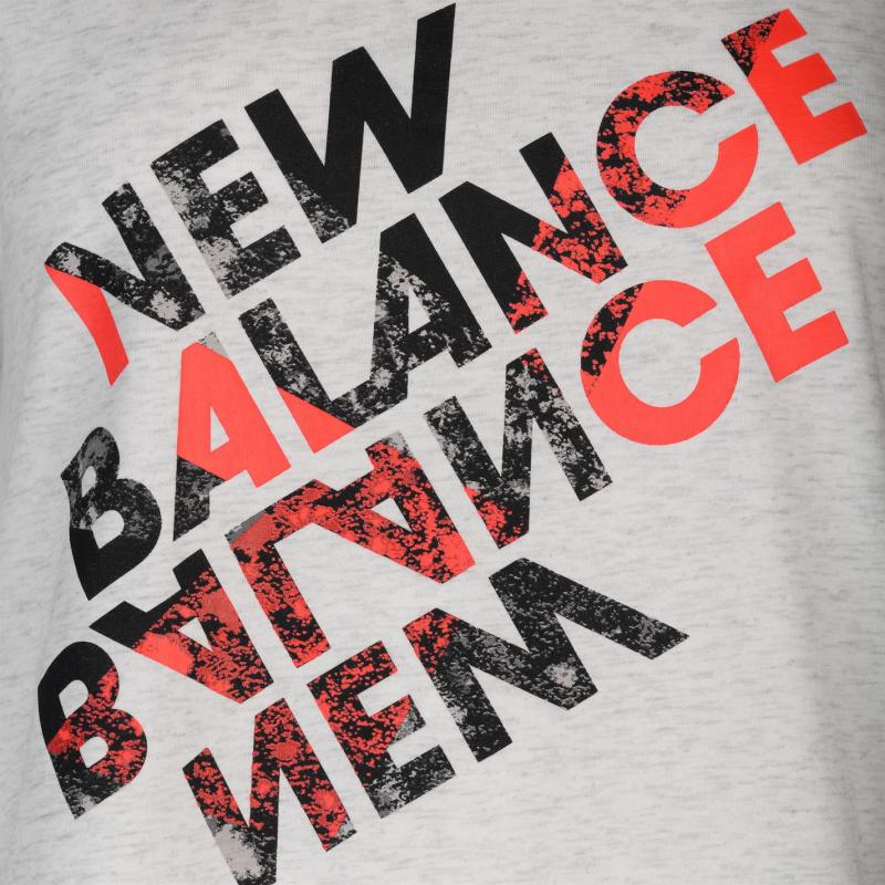 New Balance Balance Heather Tech Tee Ladies Sea Salt Hthr