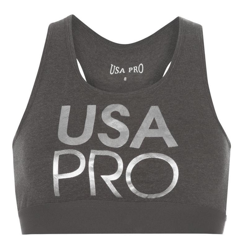 USA Pro LL Crop Top Ladies Black