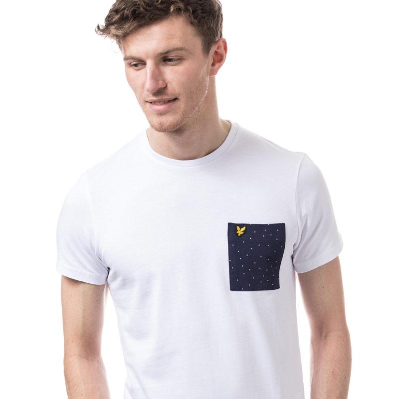 Tričko Lyle And Scott Mens Mini Square Dot Pocket T-Shirt Navy