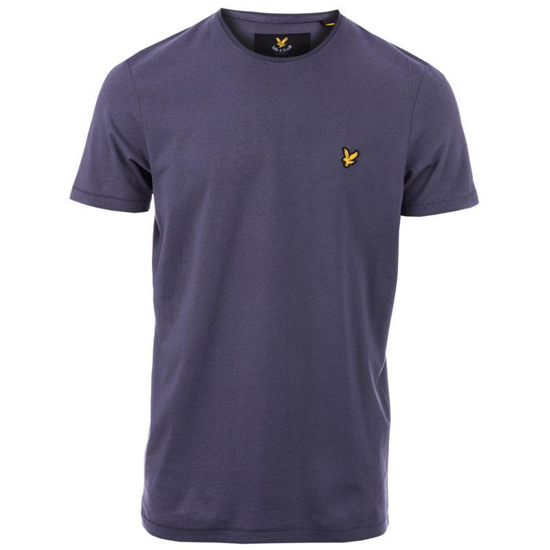 Tričko Lyle And Scott Mens Plain Pick Stitch T-Shirt Grey