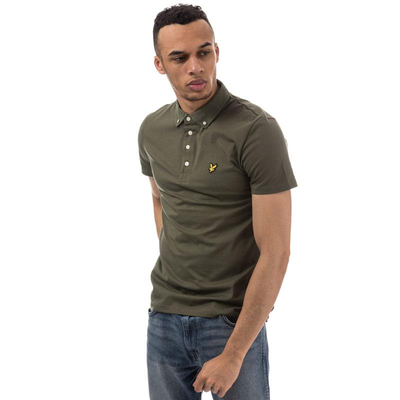 Lyle And Scott Mens Woven Collar Polo Shirt Navy