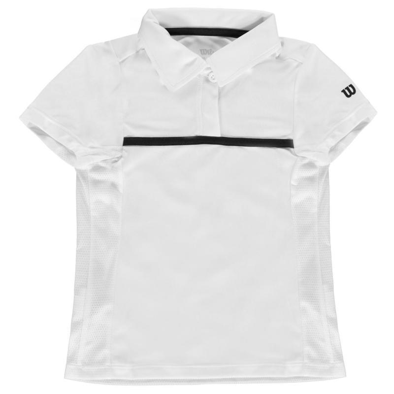 Wilson Polo Shirt Junior Girls White