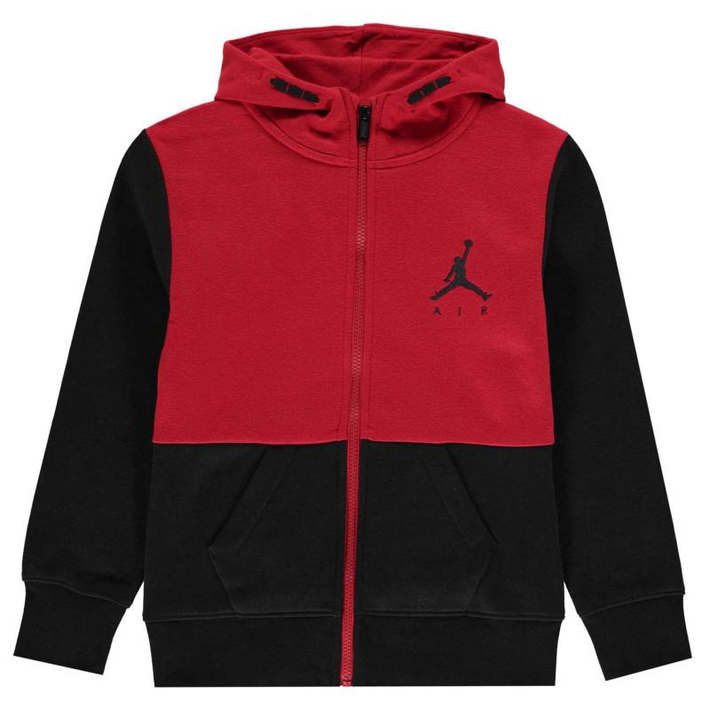 Mikina Air Jordan Jordan Dry Full Zip Hoodie Junior Boys Black/Red