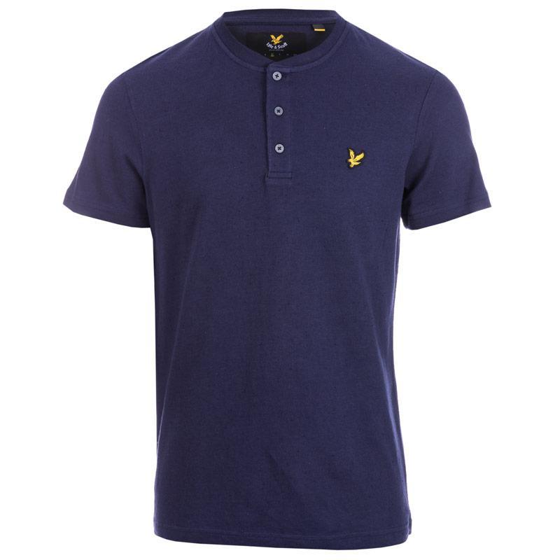 Tričko Lyle And Scott Mens Henley T-Shirt Navy