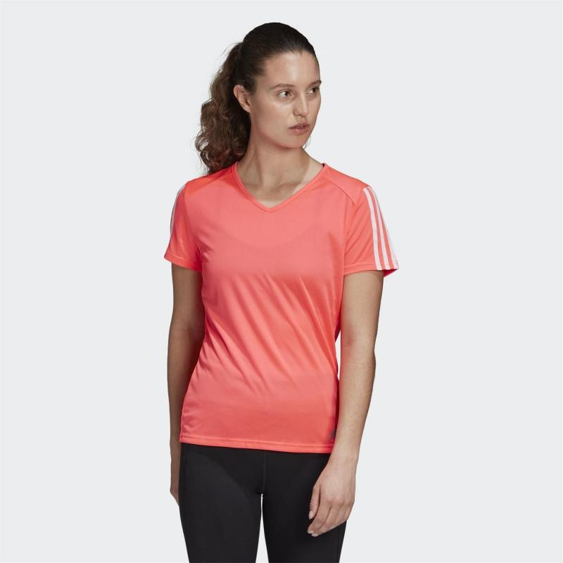 Adidas Run It T Shirt Ladies Signal Pink