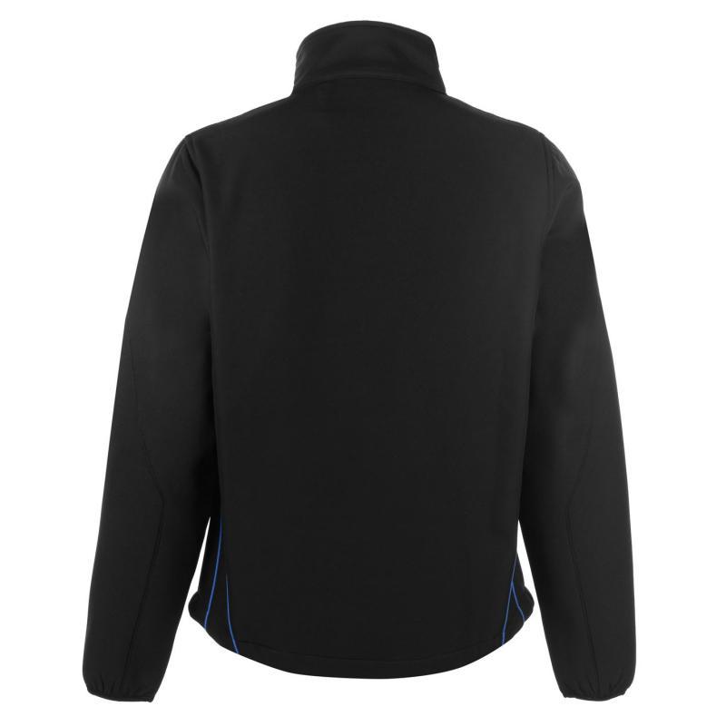 Pierre Cardin Contrast Soft Jacket Mens Black/Blue
