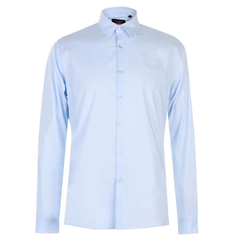 Pierre Cardin Slim Fit Stretch Long Sleeve Shirt Mens Pink