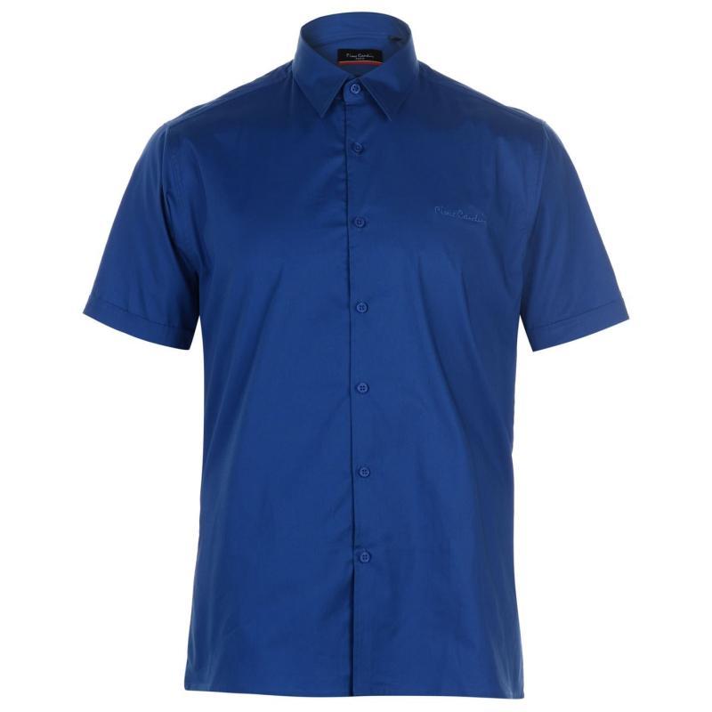 Pierre Cardin Slim Fit Short Sleeve Shirt Mens Black