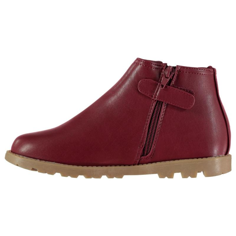 Crafted Zip Child Boys Chelsea Boots Burgundy