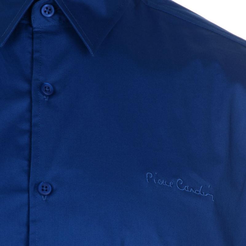 Pierre Cardin Slim Fit Short Sleeve Shirt Mens Bright Blue