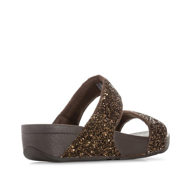 Boty Fit Flop Womens Glitterball Slide Sandals Bronze