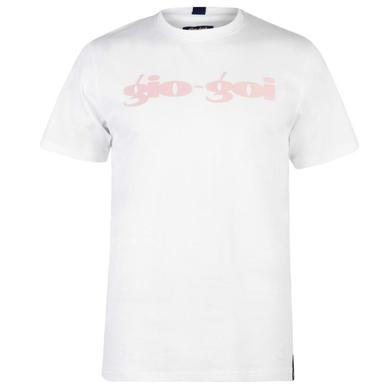 Tričko Gio Goi Chest T Shirt White/Pink Prnt