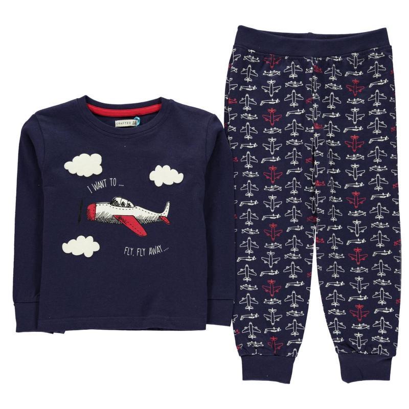 Pyžamo Crafted Essentials Jersey Pyjamas Child Boys Navy Planes