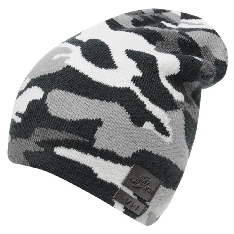 No name Austria Camouflage Beanie Grey