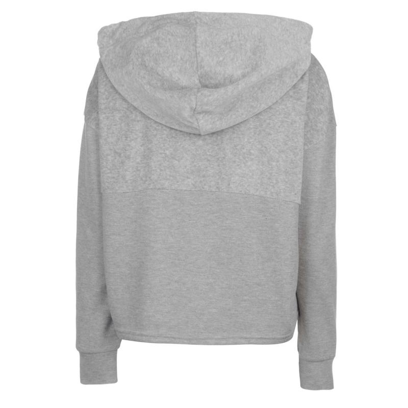 Mikina Noisy May Aiden Crop Hoodie Barely Pink