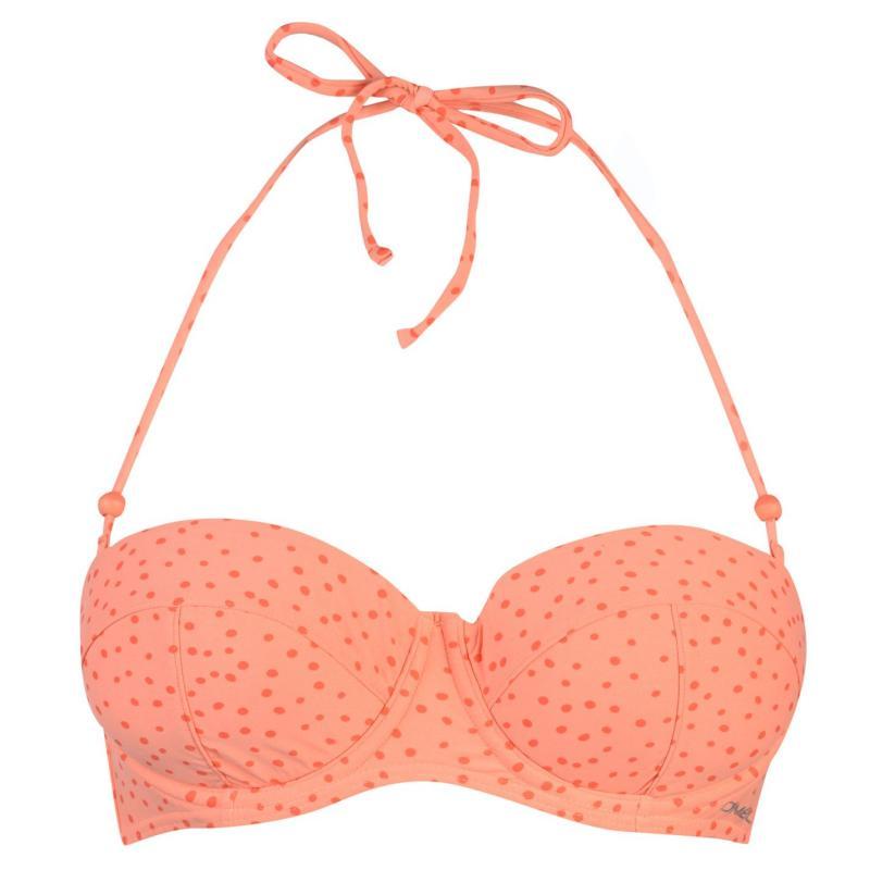 Plavky ONeill MM Bustier Top Ladies Orange AOP