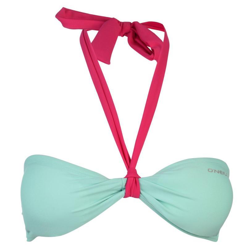Plavky ONeill MM Solid Bandeau Bikini Top Black Out