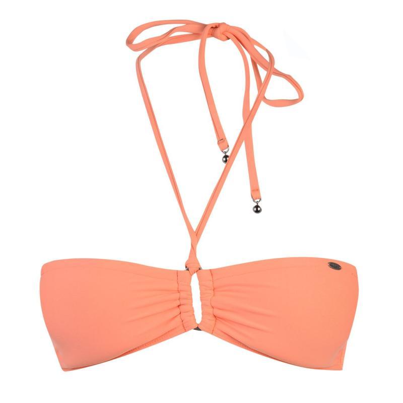 Plavky ONeill Ruby Bandeau Bikini Top Ladies Fusion Coral