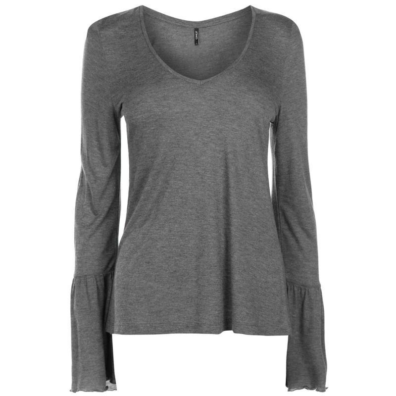 Košile Only Daisy Long Sleeve T Shirt Ladies Dark Grey Melge