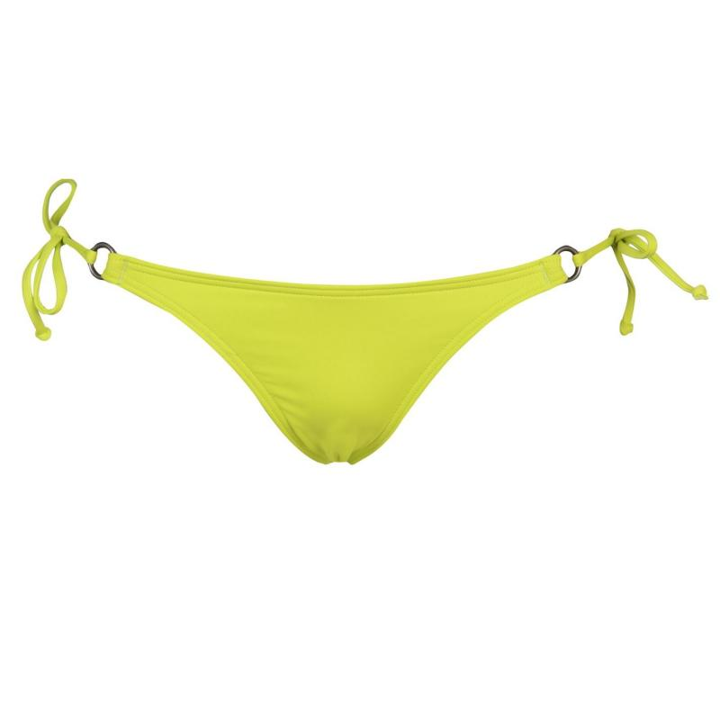 Plavky ONeill Tie and Ring Bikini Bottoms Ladies Lime Punch