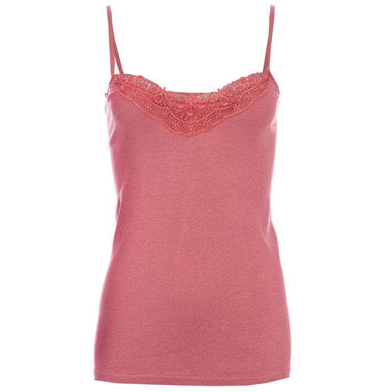 244143323d8 Vero Moda Womens New Ratli Lace Vest Rose