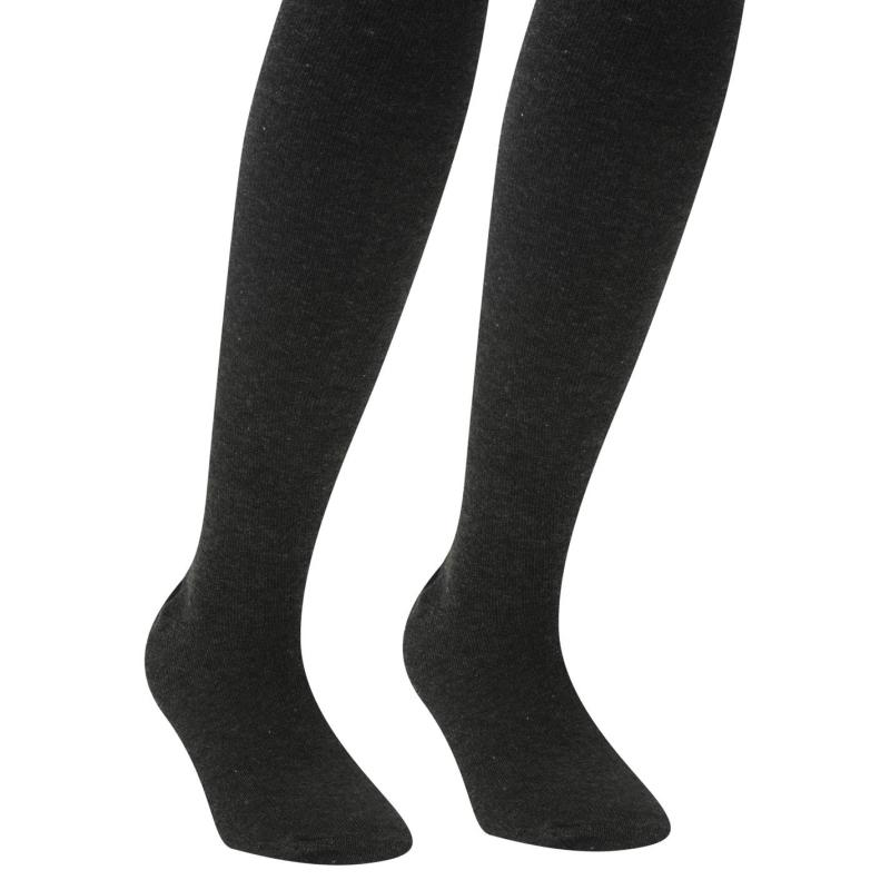 Crafted Tights 2 Pack Child Girls Grey
